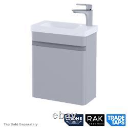 RAK Wall Hung Rimless Toilet Vanity Unit Basin Sink GROHE Dual Flush Cistern Set