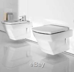 ROCA HALL WC TOILET PAN WALL HUNG + REGULAR or SOFT CLOSING WC SEAT OPTION SET