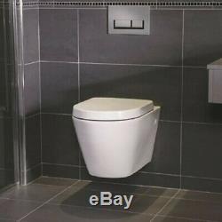Rak Ceramics Resort Rimless Wall Hung Toilet Pan Soft Close Seat