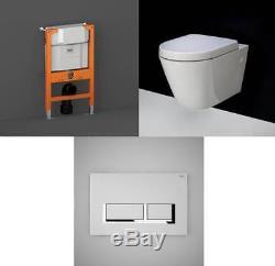 Rak Resort Rimless Wall Hung Toilet Pan with Wall Hung Frame Option