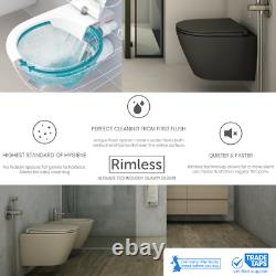 Rimless Wall Hung Toilet with GROHE 3in1 Rapid SLX Concealed WC Frame 39603000