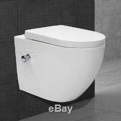 Rimless toilet back to wall soft close seat wall hang toilet WC bowl and bidet