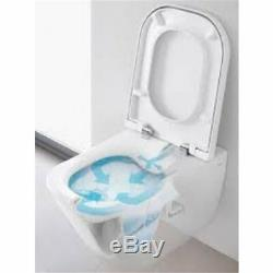 Roca Gap Rimless Set Pack Wall Hung Wc Toilet Pan With Soft Close Seat Concealed