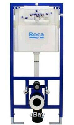 Roca The Gap Round Rimless Wall-hung Wc & Frame Bundle Special 5 in 1