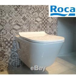 Roca The Gap Wall Hung Wc Toilet +slim Soft Closing Seat New Original Roca