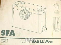 Saniwall Pro Sfa Wall Unit And Macerator For Wall-hung Toilets Vat & Del Inc