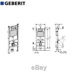 Set Ideal Standard Wall Hung Wc Tesi Aquablade +geberit Up100 Frame +flush Plate