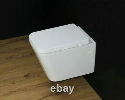 Toilet WC Wall Hung Mounted Cloakroom Soft Close Seat Rimless Compact 520MM WH54