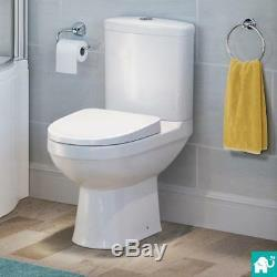 Toilet & Wall Hung Vanity Unit with Basin Gloss White Modern Bathroom