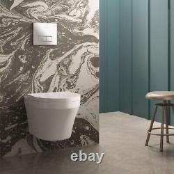 Toronto Modern Round Wall Hung Toilet (£315 NEW)