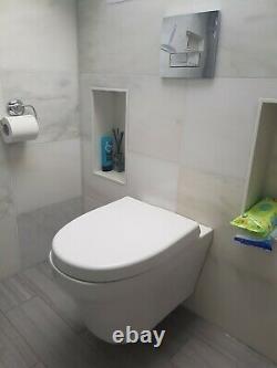 Toronto Modern Round Wall Hung Toilet Bowl (Victorian plumbing)