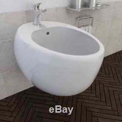 Unique Egg Design Wall Hung Toilet Bidet Luxury Ceramic Basin Oval-shaped Sink