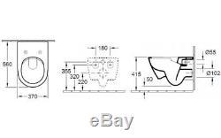 VILLEROY&BOCH SUBWAY2.0 WC TOILET PAN 48 or 56cm WALL HUNG+V&B SOFT CLOSING SEAT