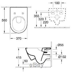 VILLEROY & BOCH SUBWAY 2.0 56cm pan with V&B Slim Soft Closing Seat
