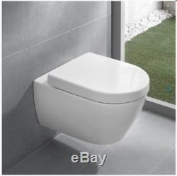 VILLEROY & BOCH TOILET SUBWAY 2.0 56cm RIMLESS WC PAN + V&B SOFT CLOSING SEAT