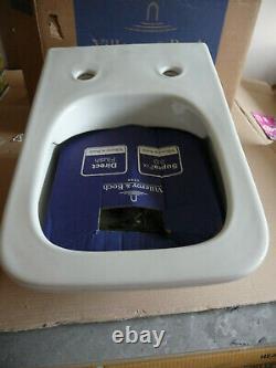 VILLEROY & BOCH VENTICELLO Wall Hung TOILET & SOFT CLOSE Slim SEAT. Brand New