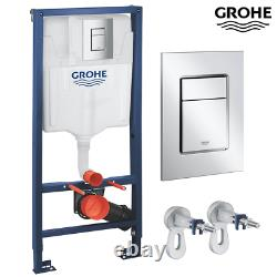 VITRA Compact RIMLESS Wall Hung Toilet WC Pan & GROHE Concealed Cistern Frame