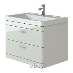VeeBath Cyrenne Wall Hung Vanity Cabinet & WC Toilet Bathroom Furniture 1400mm