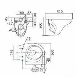 Victor Wall Hung Toilet WC Pan with Wall Hung Frame and Concealed Cistern Seat