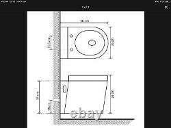 VidaXL Wall Hung Toilet Ceramic Black & Soft Close Lid NEW Contemporary Modern