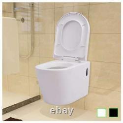 VidaXL Wall Hung Toilet Ceramic Suspended Bathroom Furniture White/Black