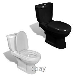 VidaXL Wall Hung Toilet With Cistern Bathroom Soft Close Seat White/Black