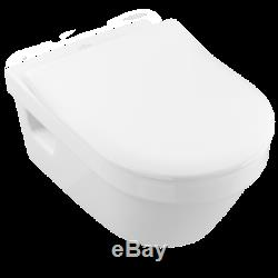 Villeroy & Boch Architectura Rimless wall hung wc pan & slim seat 5684. R0.01