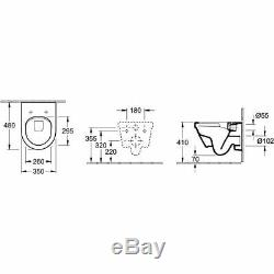 Villeroy & Boch Architectura rimless compact wall hung pan + Soft close seat