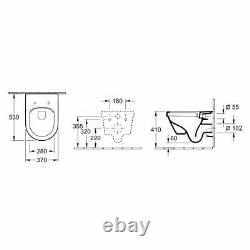 Villeroy & Boch Architectura wall hung toilet with slim Seat 4694R001 NEW model
