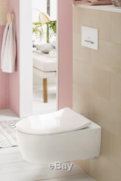 Villeroy & Boch Avento wc wall hung toilet pan rimless + slim seat 5656. RS. 01