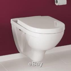 Villeroy & Boch O. Novo wall hung wc toilet pan + soft close seat 5660.10.01