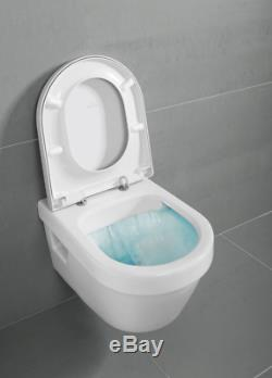 Villeroy & Boch Omnia Architectura Rimless wall hung toilet pan& Seat 5684. R0.01