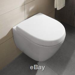 Villeroy & Boch Subway 2.0 compact wall hung wc toilet pan and seat 5606.10.01