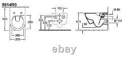Villeroy & Boch Subway 2.0 rimless wc wall hung toilet pan soft seat 5614. R0.01