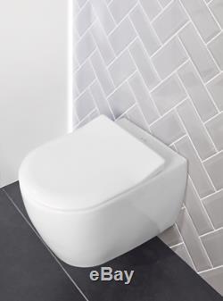 Villeroy & Boch Subway Soho wc wall hung pan Slim Soft close seat 6600.10.01