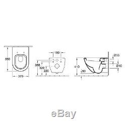 Villeroy & Boch Subway Wall Mounted Pan including Soft Close Seat 660010