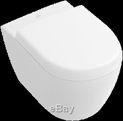 Villeroy & Boch Subway Wc Wall Hung Rimless Toilet Soft Closin Seat Ceramic Plus