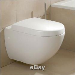 Villeroy & Boch Subway compact wall hung wc toilet pan + Soft close seat