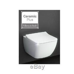 Villeroy & Boch VENTICELLO Rimless WC Toilet Ceramic Plus + Soft Closing Seat