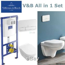 Villeroy & Boch Viconnect Wc Frame+plate+o. Novo Rimless Toilet+soft Closing Seat