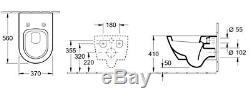 Villeroy&Boch Wall Hung Toilet Pan + Soft Close Seat