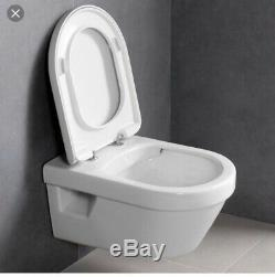 Villeroy and Boch Architectura rimless wall hung pan + Soft close seat