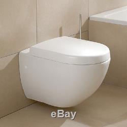Villeroy&boch Frame Subway Wall Hung Toilet+soft Close Seat+dual Flush Button