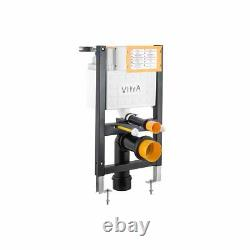 Vitra Reduced Height Wall Hung WC Pan Frame Concealed Cistern with Push Plate