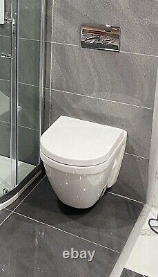 Vitra S50 Rimless Wall Hung WC Pan & Soft Close Seat Ex Display