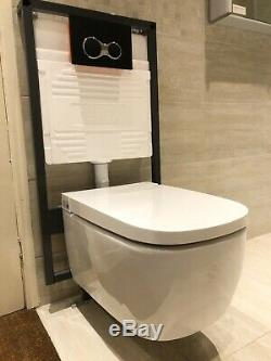 Vitra V Care Essential Rimless Shower Toilet Wall Hung Bidet Wc With Frame