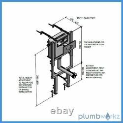 Wall Frame Concealed Toilet Tank Cassellie 790 x 1100mm WCTF01