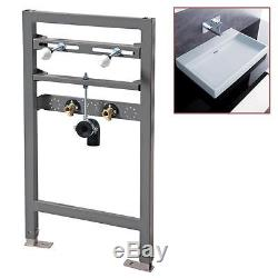 Wall Hung Basin Fixing Frame with Built in Pipe Inlets Conceal your Install