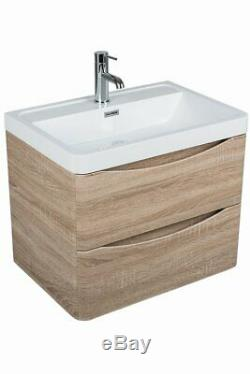 Wall Hung Bathroom Suite with Vanity Unit Furniture + 1700 Bath + WC Toilet