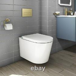 Wall Hung Bidet Toilet Built-In Dryer & Spray Purificare Night Light Bathroom